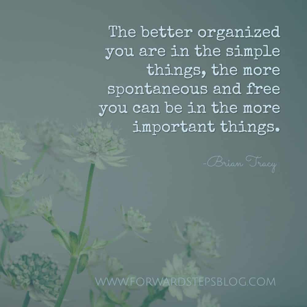 Time To Get Organized Forward Steps article image 1