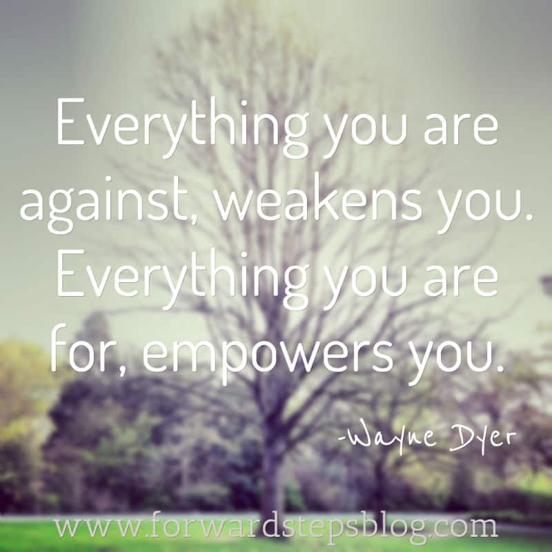 Wayne Dyer Passed Away - For And Against Quote