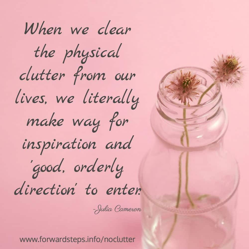 Improve your peace of mind & use this list of 31 mini-tasks #forwardsteps http://www.forwardstepsblog.com/get-life-uncluttered