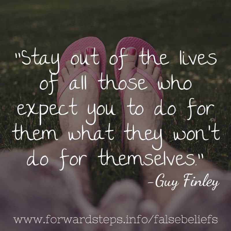 False Beliefs - Stay Out quote image